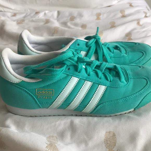 Green adidas dragon
